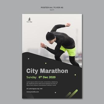 Fitness-training vorlage flyer