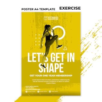 Fitness-übungsplakatschablone