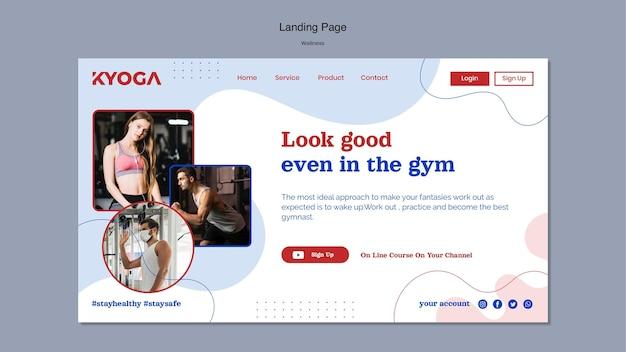 Fitness wellness homepage