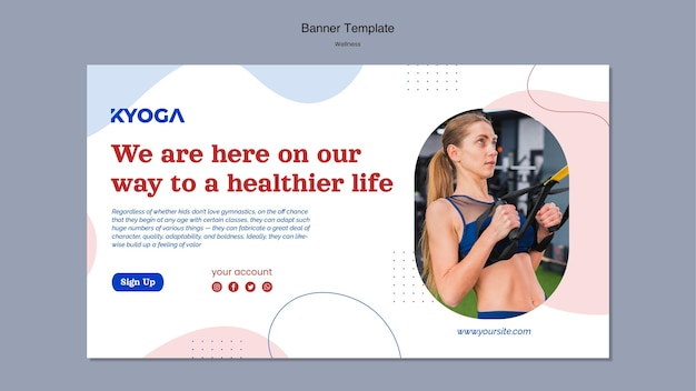 Fitness wellness horizontales banner