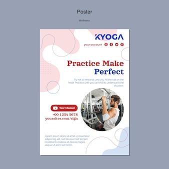 Fitness-wellness-poster