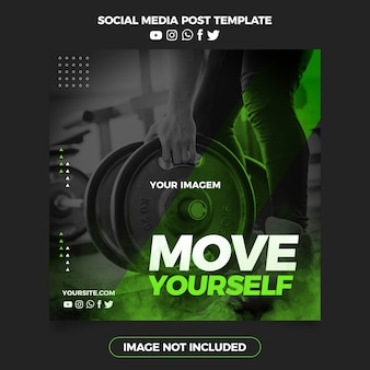 Fitnessstudio bewegen sie sich post social media
