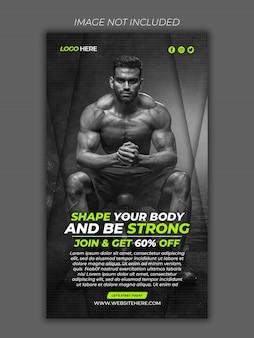 Fitnessstudio social media instagram banner premium psd Premium PSD