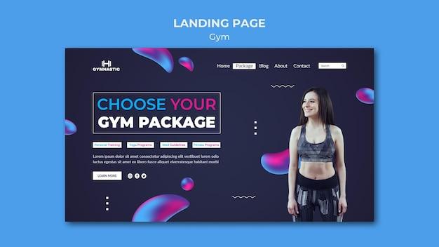 Fitnessstudio-webvorlage mit foto