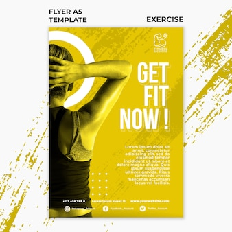 Fitnessübung flyer vorlage