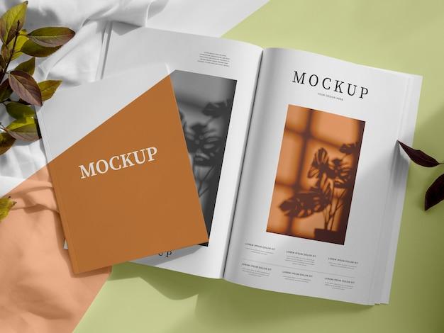 Flach gelegtes magazin und lässt modell