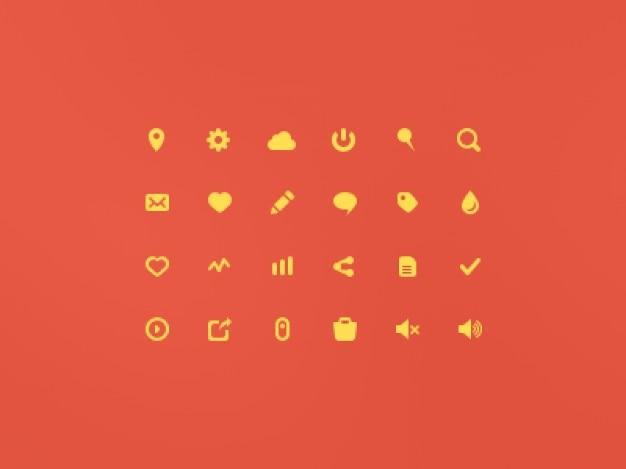 Flache gelbe symbol