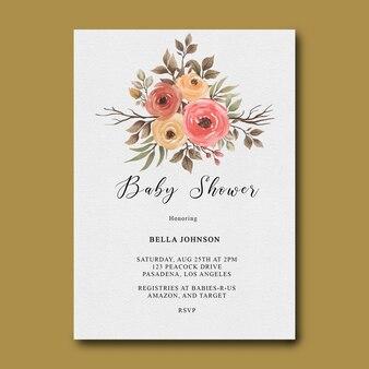 Flache lage der babyparty-einladungsschablone