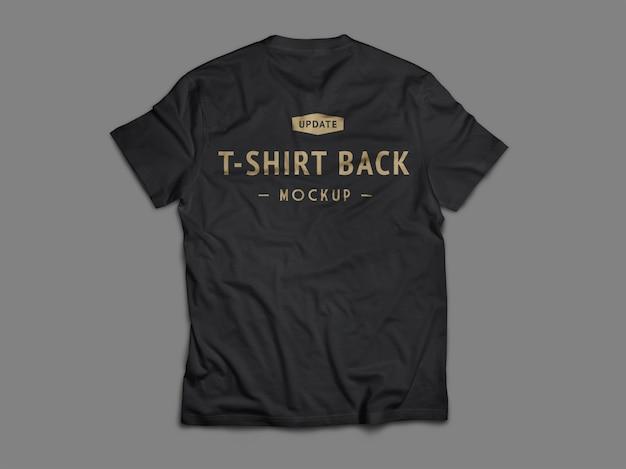 Flache lage des schwarzen t-shirt-modells