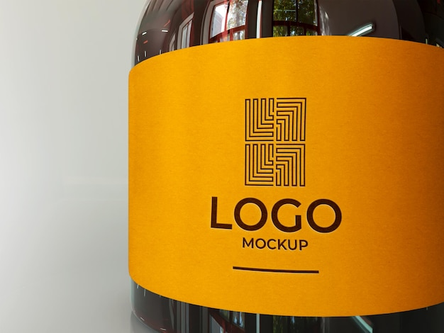 Flasche logo mockup 3d render