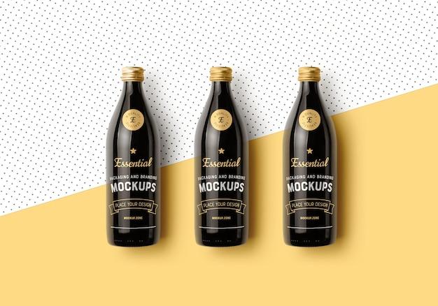 Flaschen, die modellszene verpacken