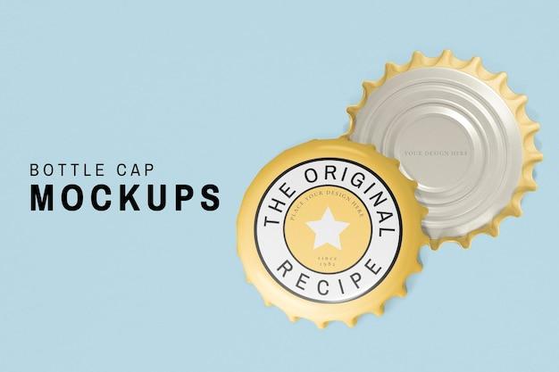 Flaschenverschluss-mockup-psd, getränkeprodukt-branding