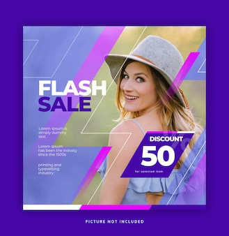 Flash sale instagram social media vorlage
