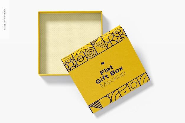 Flat gift box mockup, draufsicht