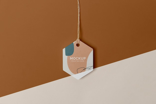 Flat-lay-produktanhänger-mock-up