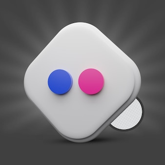 Flickr 3d icon-rendering