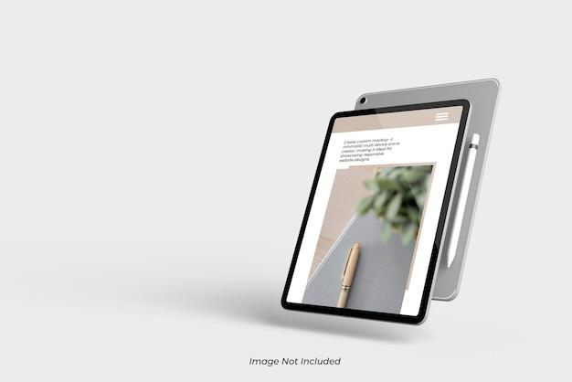 Fliegen nahaufnahme auf tablet device mockup isolated