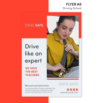 Fliegerschule flyer vorlage
