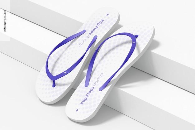 Flip flops mockup, rechte ansicht