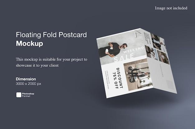 Floating fold postkartenmodell