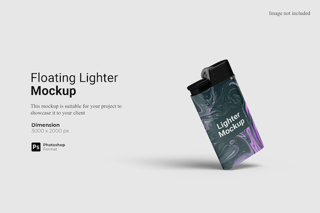 Floating lighter mockup 3d-rendering isoliert
