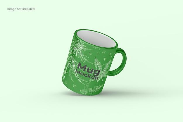 Floating mug mockup