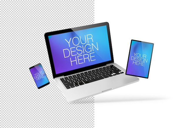 Floating responsive devices-modell