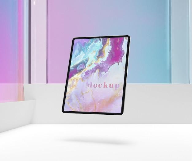 Floating tablet-gerätemodell