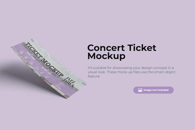 Floating ticket mockup design
