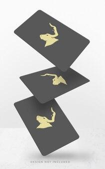 Floating visitenkarten-konzept-modell