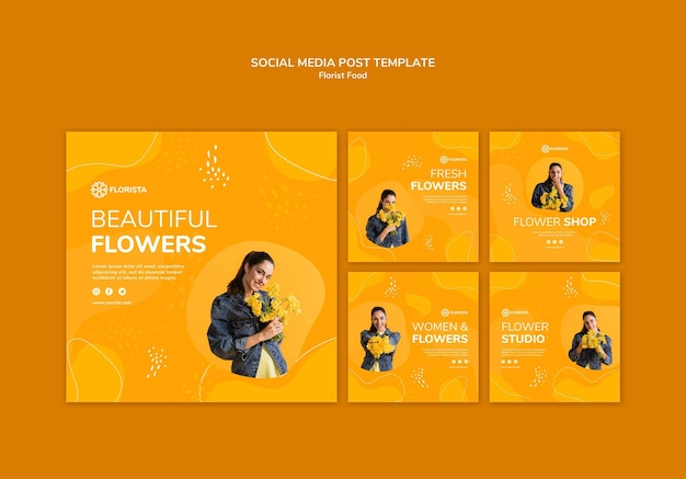 Florist konzept social media post