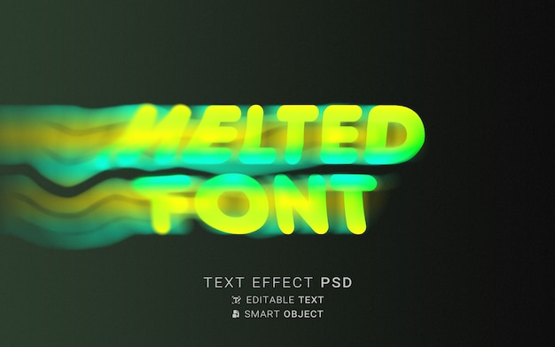Flüssige typografie mit texteffekt