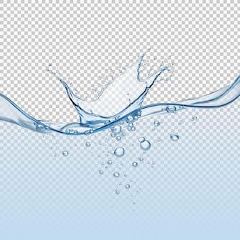 Flüssige wasserwiedergabe isoliert