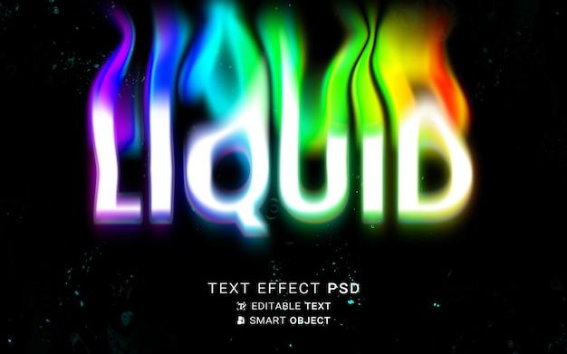 Flüssiges typografie-design mit texteffekt