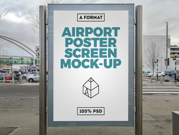 Flughafen plakatwand modell