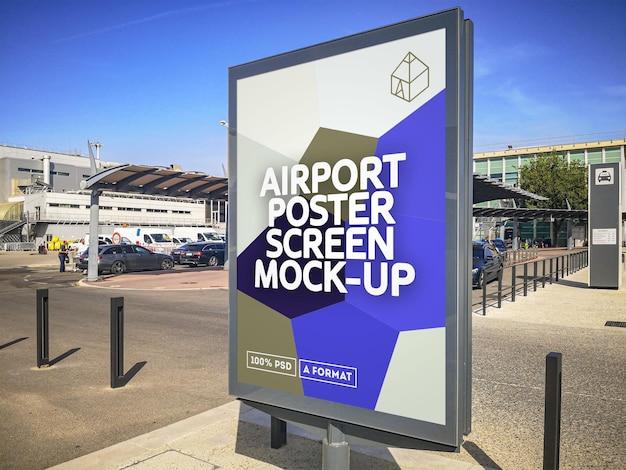 Flughafen poster bildschirm