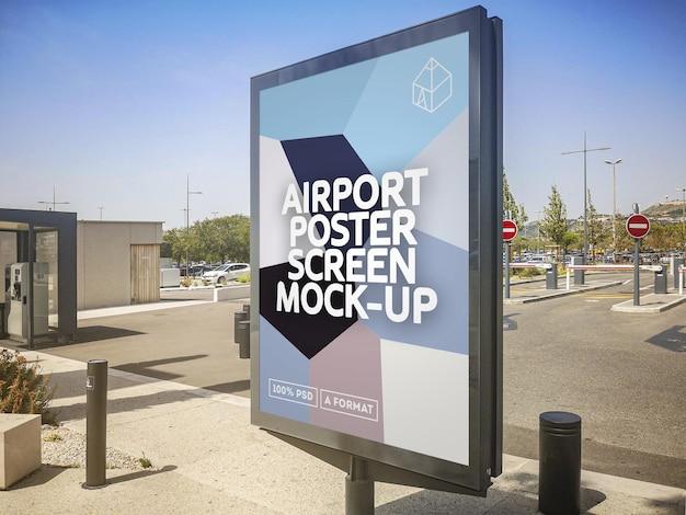 Flughafen poster screen mockup