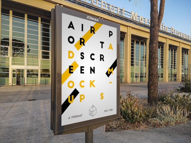 Flughafen straße plakatwand modell