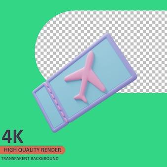 Flugticket 3d reisender symbol abbildung hochwertige darstellung