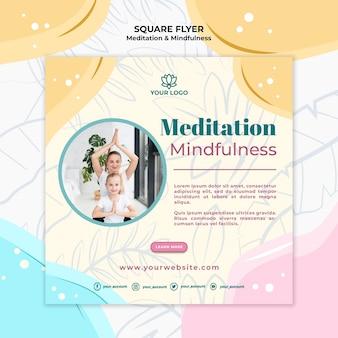 Flyer-design für meditation und achtsamkeit