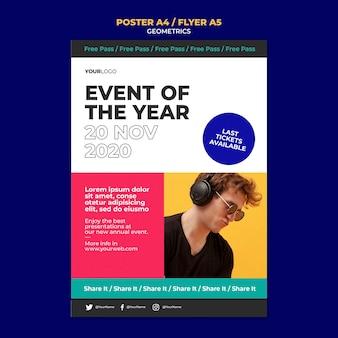Flyer event des jahres vorlage
