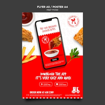Flyer fast-food-vorlage