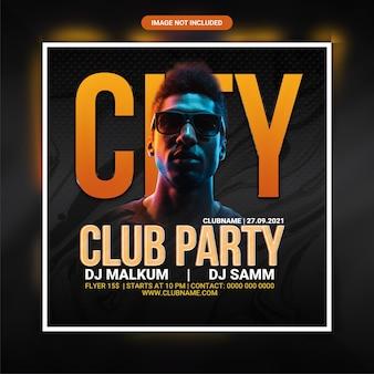 Flyer für die party des stadtclubs
