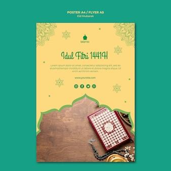 Flyer für eid mubarak