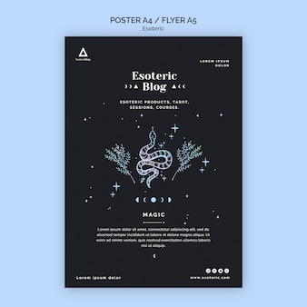 Flyer für esoterischen blog