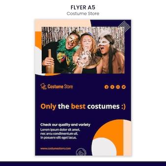 Flyer für halloween-kostüme