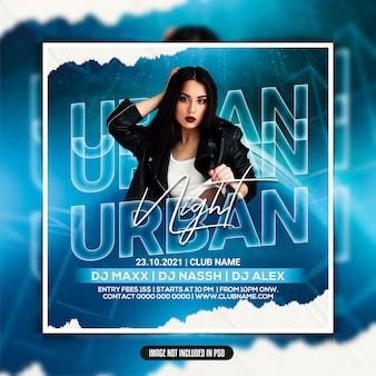 Flyer für party-flyer für urbane nachtclubs
