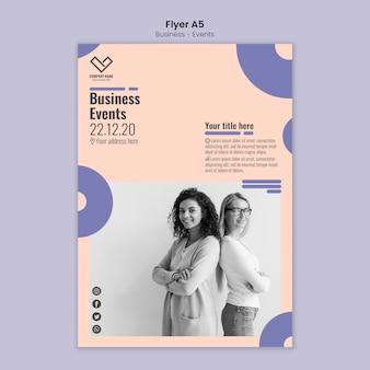 Flyer konzept für business-vorlage