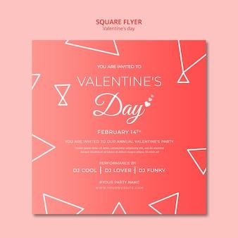 Flyer konzept für valentinstag vorlage