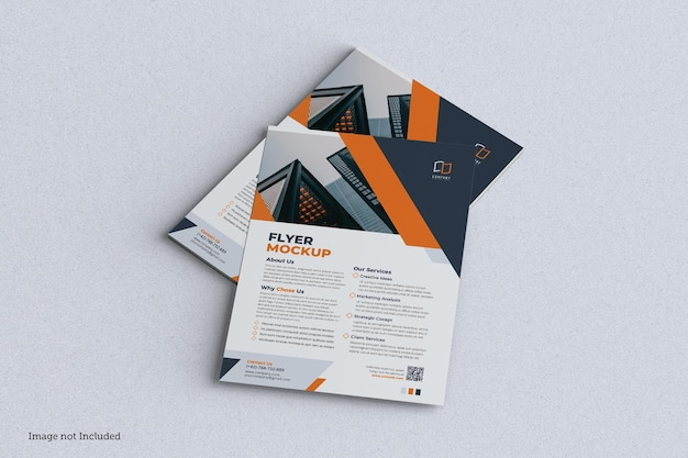 Flyer mockup design isoliert